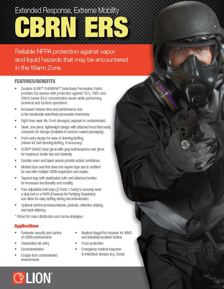 LION Extended Response Suit (ERS) CBRN Ensemble - TSF